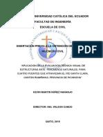 APLICACIÓN DE LA EVALUACIÓN TÉCNICA VISUAL DE ESTRUCTURAS ANTE  FENÓMENOS NATURALES, PARA CUATRO .pdf