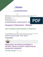 Report on the City Maharashtra