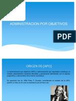 APO Administracion por Ojetivos