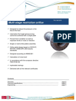 Multistage Restriction Orifice Deltafluid