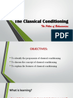 The Classical Conditioning