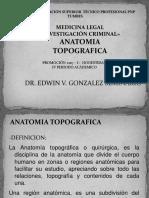 4ta Semana-1era Sesion. Anatomia Topografica