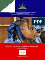 Politique et Stratégie Nationale  Alimentation Scolaire_Final 2016