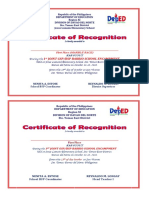 Certificates BSP GSP