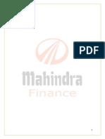 mahindra & mahinra finance service project for AMM.docx