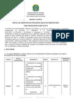 Edital 44-2019 Processo Seletivo Professor Substituto