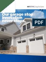 ROYAL BUILDING SOLUTIONS Garage Brochure 2017