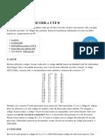O que é ASCII, UNICODE e UTF-8