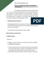 Instrucciones Para La Presentación Del Informe de Tesis en Formato Artículo (1)