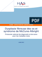 Ald Hors Liste - Pnds Sur La Dysplasie Fibreuse Des Os