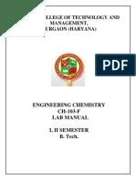 Chemistry Lab Manual.
