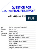 Pertanyaan Kunci Untuk Reservoir Panas Bumi