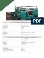Marine Emergency Diesel Generator Set