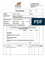 IMC EX P003 SOP EXPL Coal Sample Collection and Dispatch Procedure V1