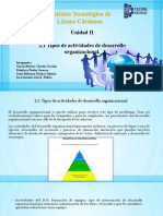 2.1 Tipo de Actividades Desarrollo organizacional