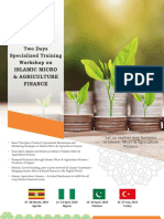Islamic Micro & Agriculture Finance Trainings- 2019