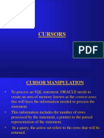 Cursors in Oracle