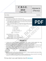 316Oswaal CBSE Board Solved Paper 2018 Physics Class 12