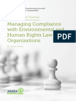 Managing Compliance With Environmental and Human Rights Law in Organisations