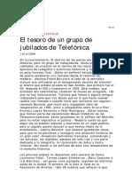 El Tesoro de Un Grupo de Jubilados de Telefónica