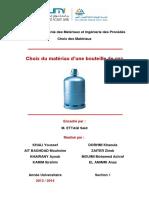Rapport Choix Des Matériaux
