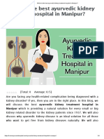 Which is the Best Ayurvedic Kidney Treatment Hospital in Manipur