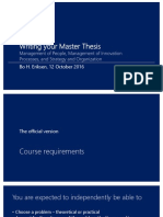 Writing Your Master Thesis
