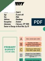 22-02-2019 Child. S, 6 Yo, Vulnus Laceratum Right Femur, Dr. Rizal Alisi, Sp. OT