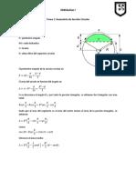Ecuaciones de Tirante de Flujo de Una Seccion Circular