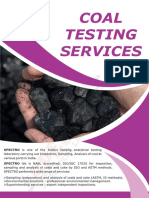 Coal Testing Services in India