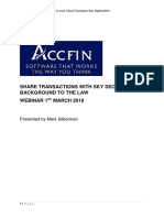 Share Transactions With Sky Sec and Background to the Law March 2019