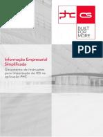 Instruções Para Importação Da IES Na Aplicação PHC