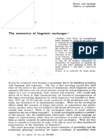 Bourdieu - 1974 - The Economics of Linguistic Exchanges