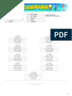 Crear Calendario Fixture Para Torneos de Futbol Con 10 Equipos