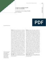 A Construção Teórica Na Sociologia Da Saúde