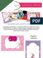 Invitaciones Fiesta Infantil
