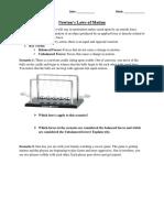 newton worksheet