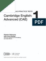 Cambridge English Advanced CAE 1  exam essentials practice tests