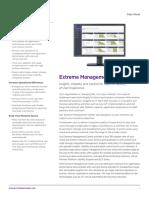 Extreme Management Center Data Sheet