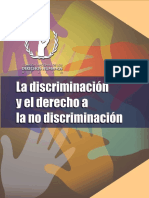 3. La Discriminación y El Derecho a La No Discriminación 4Ta Semana