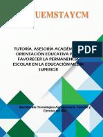 Tutoria Asesoría y Orientación Educativa Circular Uemstaycm -68-2018
