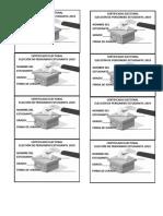 Certificado Electoral 2019