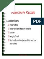 Productivity Factors
