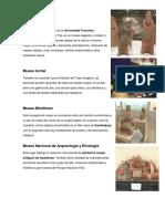 Museos de Guatemala y Monumentos, Parques