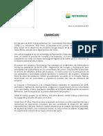 Comunicado Petrobras
