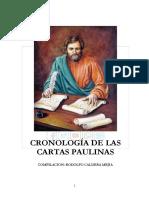Cronologia de Las Cartas Paulinas