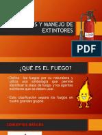 Tipos y Manejo de Extintores