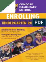 Kindergarten Roundup 2019