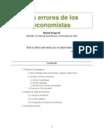 Errores de los economistas
