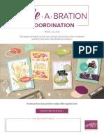 Sale-A-Bration Coordinaton- Mar. 1-31, 2019